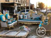 A Set Of Gold Antique Wood Sofa Chair | Furniture for sale in Abia State, Aba North