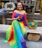 Multi Color Rainbow Long Off Show Dress | Clothing for sale in Lagos State, Lagos Island
