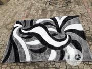 Black, Grey and White Vip Shaggy Center Rug   Home Accessories for sale in Lagos State, Ikoyi