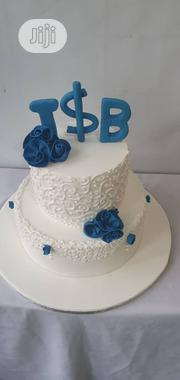 "10"" And 6"" Vanilla Fondant Cake For Engagement Cake 
