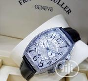 Franck Muller Black Leather Crystal Wristwatch / Wrist Watch   Watches for sale in Lagos State, Lagos Mainland