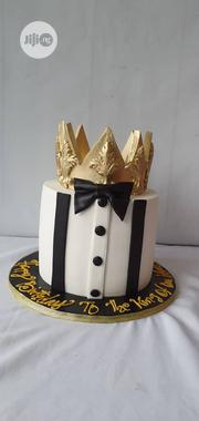 "8"" Vanilla, Fondant Cake With A Crown On Top 