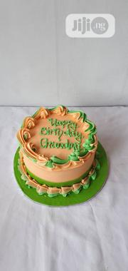 "6"" Vanilla, Buttercream Cake 4kwith A Crown On Top. 