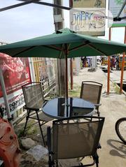 Umbrella Canopy Table With 3 Chairs | Garden for sale in Lagos State, Ajah