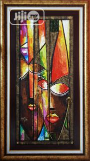 P 13029 Face Abstract Mixed Media Wall Art Painting Canvas Framed | Building & Trades Services for sale in Lagos State, Surulere