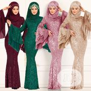 Muslim Women's Islam Double Big Horn Sleeve Dress | Clothing for sale in Lagos State, Ikeja