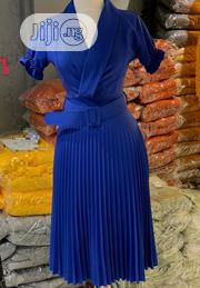 V Neck Pleated Corporate Dress | Clothing for sale in Lagos State, Lekki Phase 1