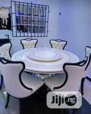 By 6 Glass Mable Royal Round Dinning Table | Furniture for sale in Lagos State, Ojo