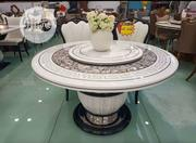 Round Mable Dining Table With 6 Sitting Chair | Furniture for sale in Lagos State, Ojo