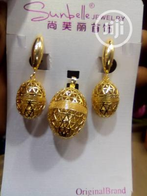 Shaped Long Earring With Pendant
