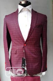 Checker Wine Suit | Clothing for sale in Lagos State, Lagos Island