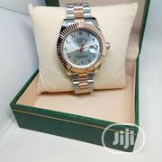 Rolex Oyster Arabic Numeral Perpetual Male Watch - Gold Silver | Watches for sale in Lagos State, Ojodu