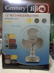 """Century 12"""" Rechargeable Fan With LED Light FRCT-30-A1 