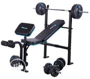 Bench Press With 50kg Barbell, Dumbbell Biceps Curl Pad | Sports Equipment for sale in Lagos State, Surulere
