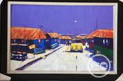 Village Scene Acrylic On Canvas Art Paint Work 100 By 25 | Arts & Crafts for sale in Lagos State, Surulere