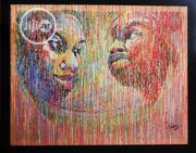 Erfect Couple Acrylic On Canvas Art Paint Work 150 By 120cm | Arts & Crafts for sale in Lagos State, Surulere