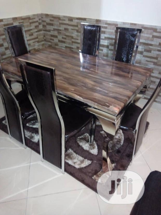 Animal Leg Design Marble Dinning Table With 6chairs