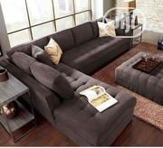 Well Designed L Shape Sofa + Ottoman | Furniture for sale in Lagos State, Magodo