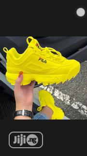 Latest Fila Disruptor Yellow Sneakers | Shoes for sale in Lagos State, Lagos Island