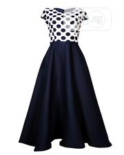 Liliez Polka Maxi Dress-Navy Ivory (UK10, UK14) | Clothing for sale in Lagos State, Ajah