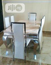 Quality Marble Dinning Table And Stainless Leg | Furniture for sale in Lagos State, Ojo