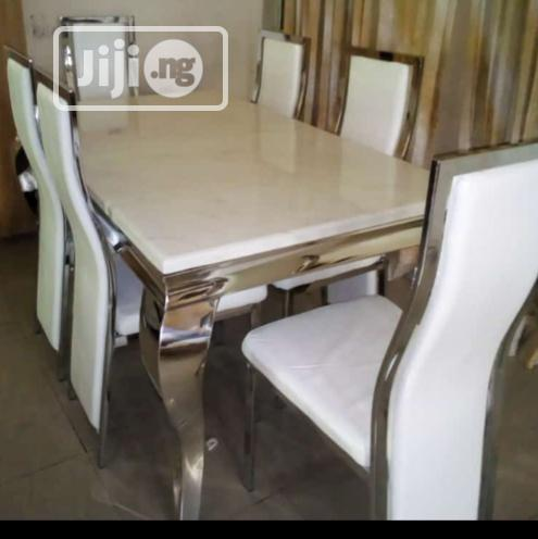 Imported Mabel Dining Table With Six Chairs.