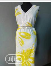 White And Yellow Dress Fitted Dress | Clothing for sale in Lagos State, Yaba