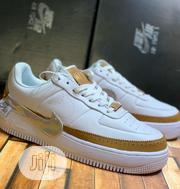 """Nike Airforce Jester Sneakers """"Triple White Brown"""" 