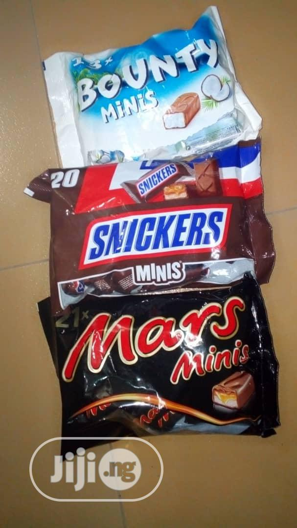 Bounty, Snickers &Mars Minis Chocolate