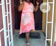 Orange and Creme High Low Chiffon Dress | Clothing for sale in Lagos State, Yaba