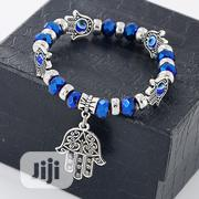 Evil Eye Hamsa Hand Charm Blue Beads Lucky Bracelet Turkish Bracelet | Jewelry for sale in Lagos State, Alimosho