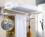Wall Mounted Space Aluminum Towel Shelf With Hooks | Furniture for sale in Lagos State, Lagos Mainland