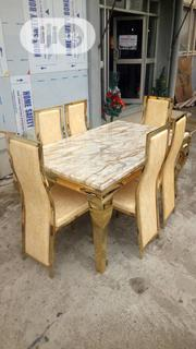 Very Quality Mable Dining Table By 6 Sittar | Furniture for sale in Lagos State, Ojo