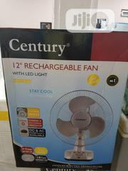 "12"" Century Rechargeable Table Fan With Led Light 