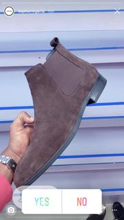 Men's Exclusive Suede Chelsea Boot Black | Shoes for sale in Lagos State, Kosofe