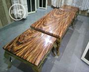 Quality Strong Marble Center Table With Two Sides Stools | Furniture for sale in Abuja (FCT) State, Asokoro