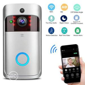 Wifi Security Doorbell - With Batteries And Riner