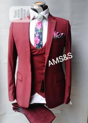 Three Pieces Wine Suit | Clothing for sale in Lagos State, Lagos Island