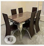 Marbnle Dinning With 6 Chairs | Furniture for sale in Lagos State, Lekki Phase 1