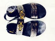 Black Italian Gucci Leather Sandals | Shoes for sale in Lagos State, Ikeja