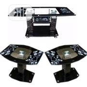 Glass Centre Table With Two Sidestools   Furniture for sale in Lagos State, Isolo