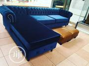 Well Tufted L Shape Plus Free Ottoman | Furniture for sale in Lagos State, Magodo