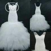 Crystals,Full Beaded,White,Mermaid Wedding Gown | Wedding Wear for sale in Oyo State, Ibadan