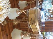 Dubai Golden Chandelier With Fan | Home Accessories for sale in Lagos State, Victoria Island