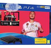 Sony PS4 500GB + FIFA 20 Bundle - Jet Black | Video Game Consoles for sale in Ondo State, Iju/Itaogbolu