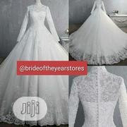 High Neck, White, Ball Wedding Gown | Wedding Wear for sale in Oyo State, Ibadan
