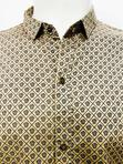 Versace Men's Casual Brown Long Sleeve Shirt | Clothing for sale in Ikeja, Lagos State, Nigeria