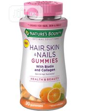 Nature's Bounty Hair, Skin, & Nails Biotin Gummies, Citrus | Vitamins & Supplements for sale in Lagos State, Ikeja
