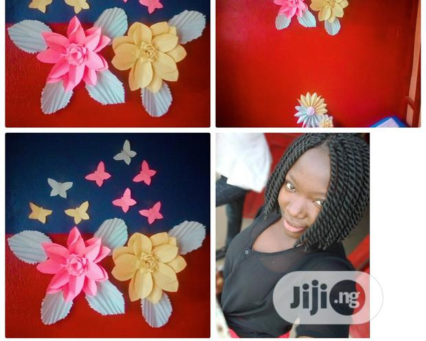 Archive: Flowers Decoration With Cardboard Paper