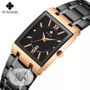 Men Watches Top Brand Luxury WWOOR Gold Black Square Quartz Watch   Watches for sale in Lagos State, Lagos Mainland